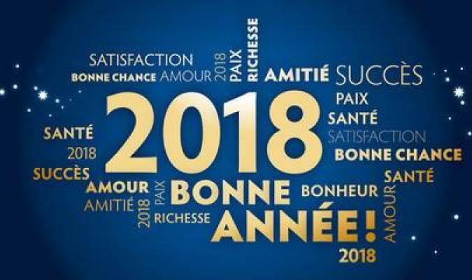 Bonne année 2018 à tous nos lecteurs !
