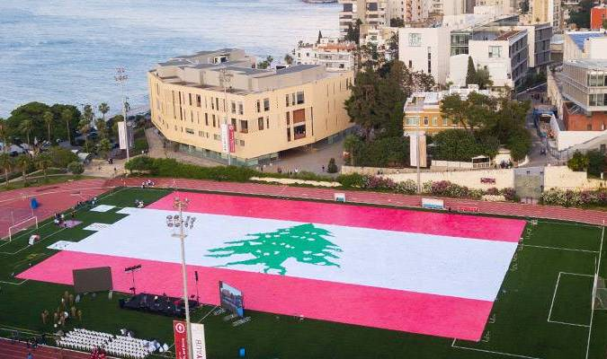 60 000 cahiers pour le drapeau libanais